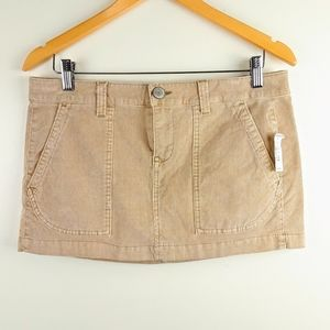 Aeropostale Corduroy Mini Skirt Tan Size 11-12